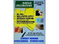 Darnall Decorators, Paint and wallpaper services