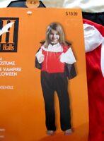 Halloween Vampire Costume - Child 4-6 - NWT