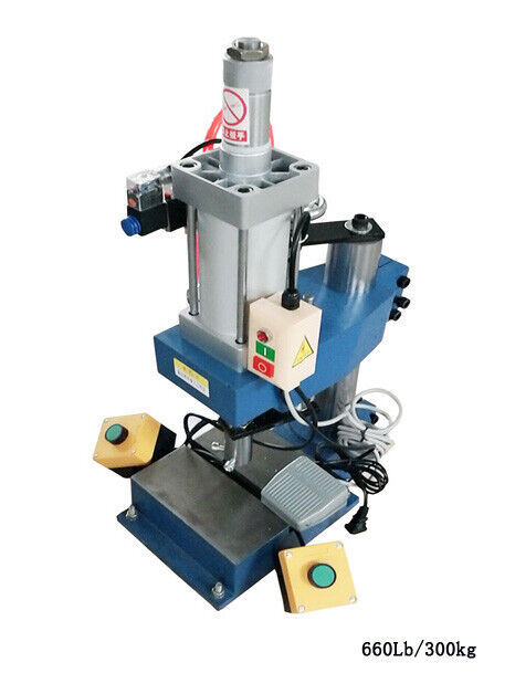 TECHTONGDA 110V 660Lb/300kg Vertical Pneumatic Punch Press Machine