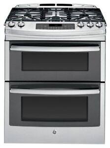 "GE PCGS950SEFSS 30"" Self-Cleaning Gas Convection Double Oven"