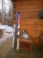 K2 Patriot 170 skis Tecnica boots 285 mm or about size 7 ladies