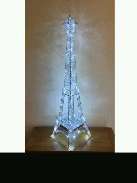 Delightful Crystal Eiffel Tower Floor Lamp