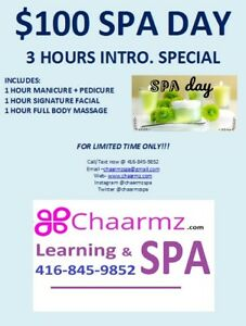 $100 SPA Day (Limited time Only!)