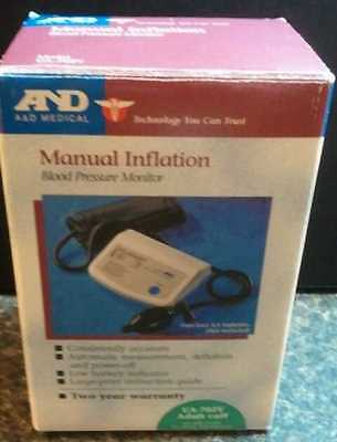 2 Blood Pressure Monitors A&D Medical Manual Inflation & Samsung Healthy Living