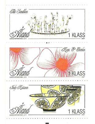 ALAND - APPLIED ART Åland Islands stamp set 2007 MNH