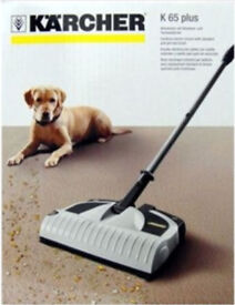 KARCHER K65 Plus Electric Rechargeable Cordless Floor Pet Hair Sweeper Broom