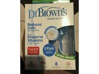 Dr Brown anti colic bottles
