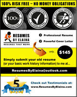 ★★★ TOP-NOTCH RESUME SERVICE --- BEST IN THE INDUSTRY! ★★★