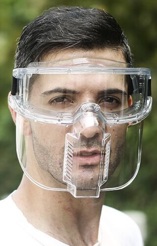 Anti-Fog Safety Goggle with Face Shield Attachment Mask 2020; Full Face Shield