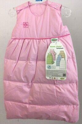 Baby Kinder Schlafsack Daunen 1171 rosa/natur/hellblau 70 cm (Kinder Daunenschlafsack)