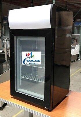 Nsf Countertop Glass Freezer Sd50b Refrigerator Glass Door Beer Cooler