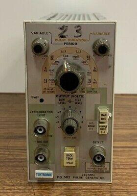 Tektronix Pg 502 250mhz Pulse Generator Plug-in Module