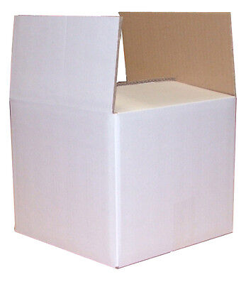 10 White Moving Storage Cardboard D/W Boxes 9.4