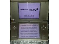 Nintendo dsi xl, charger and card - charcoal colour