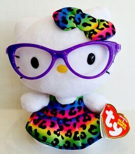 TY BEANIE BABIES HELLO KITTY Nerd  Rainbow Leopard Dress  6