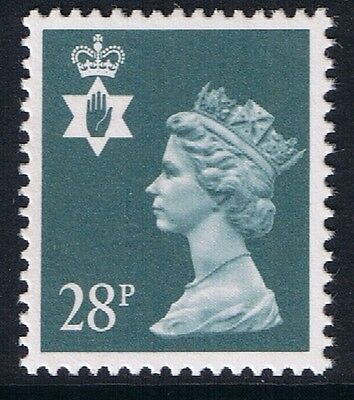 GB QEII Northern Ireland. SG NI63 28p Dp Bluish Grey PP. Regional Machin MNH