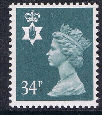 GB QEII Northern Ireland. SG NI66 34p Deep Bluish Grey PP. Regional Stamp MNH