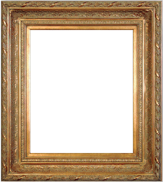 55 Wide Gold Antique Photo Family Oil Painting Wood Picture Frame