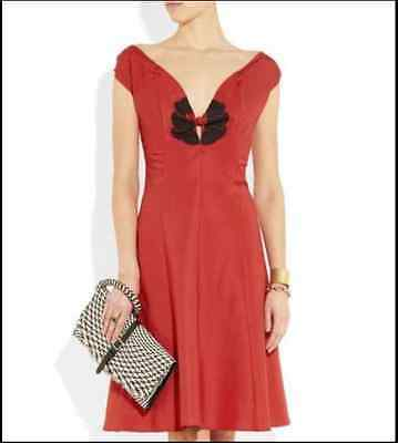 YVES SAINT LAURENT YSL Runway Red Dress, Size 8 France Size 40