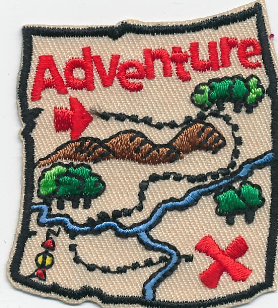 Girl Boy Cub ADVENTURE MAP trip journey Fun Patches Crests Badges SCOUT GUIDE