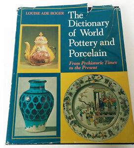 Dictonary of World Pottery and Porcelain from 70's(Pierrefonds)