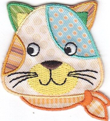 Calico Cat Pets Kittens Tabby Iron On Embroidered Patch for sale  Shipping to Canada