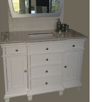 "New in stock the Cameron 48""w bathroom vanity white or espresso"