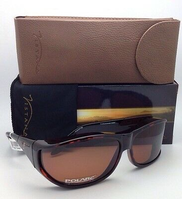 Polarized VISTANA Sunglasses W403C Fits Over Medium Eyeglasses Tortoise w/Copper