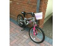 Girls bike - pink and silver