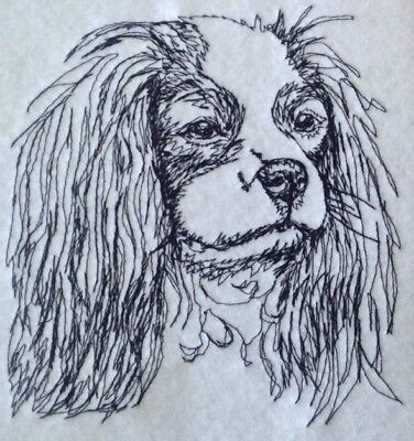 Cavalier Spaniel Embroidery - Completed Embroidery Cavalier King Charles Spaniel Dog 1