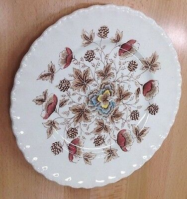 "Old Chelsea W.H. Grindley  ironware Staffordshire 10"" Dinner Plate"