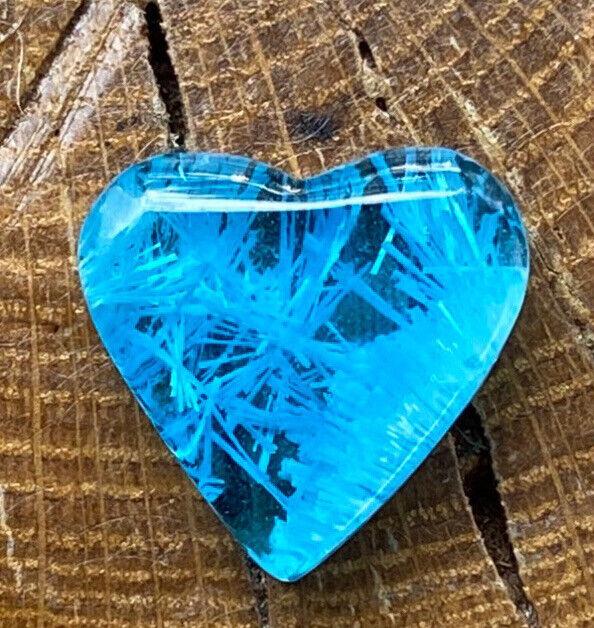 Beautiful Blue Bridewell Heart Cabochon