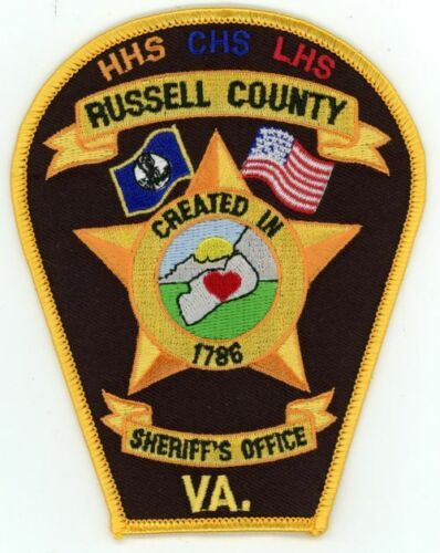 RUSSELL COUNTY SHERIFF VIRGINIA VA NEW SHOULDER PATCH SHERIFF