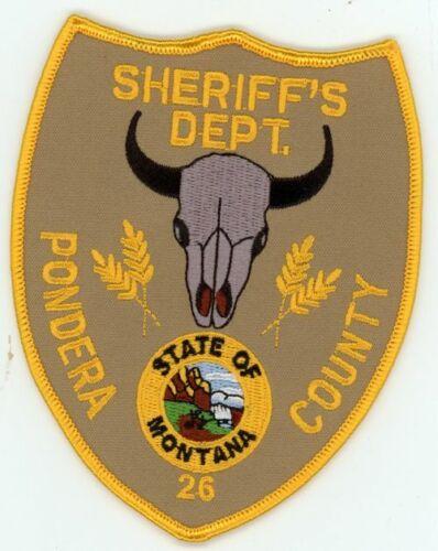 PONDERA COUNTY SHERIFF MONTANA MT NICE PATCH POLICE