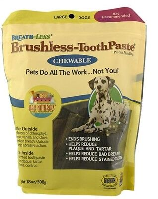 (Ark Naturals Breath-Less Brushless-ToothPaste Chewable for Large Dogs-18 oz-EA)