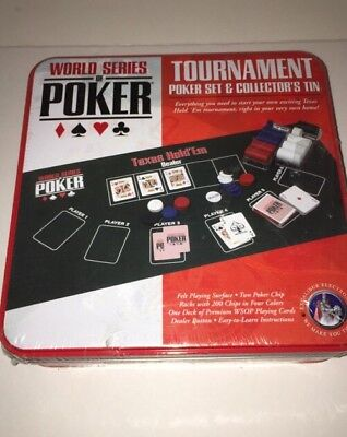 Poker Chips Set Playing Cards Dice Excalibur World Series of Poker Vegas Party