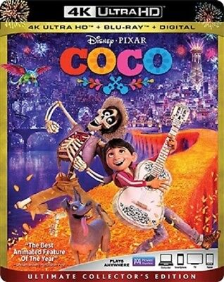 Coco 4K Uhd 01 18 4K  Used  Blu Ray Only Disc Please Read