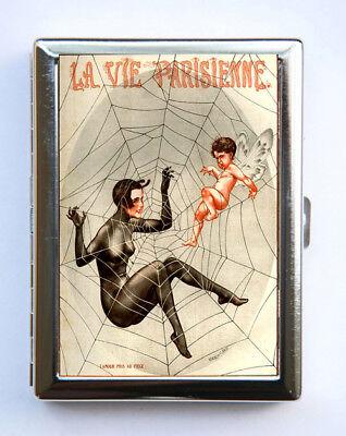 Cigarette Case id case Wallet La Vie Parisienne Spider Web Angel ()