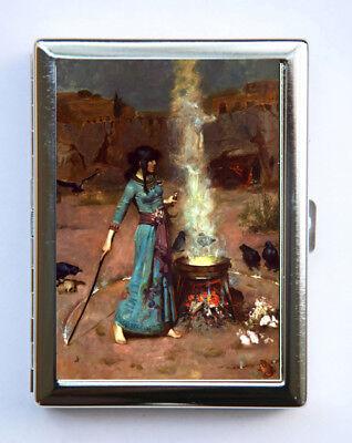 Metal Magic Holder (Metal Cigarette Case Wallet Holder John William Waterhouse Magic Circle Witch )