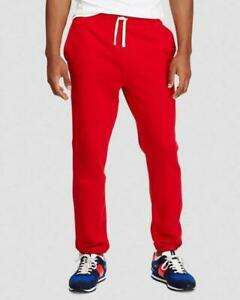 Polo Ralph Lauren Red Cotton-Blend-Fleece Pant, Size M, L