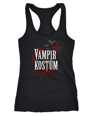 Damen Tanktop Vampir-Kostüm Faschings-Shirt Halloween Karneval - Kostüme Vampir Shirt