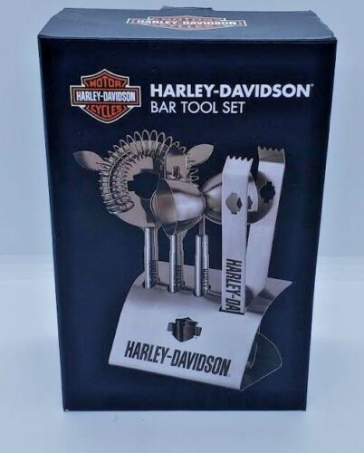 HARLEY-DAVIDSON Stainless Steel 5-Piece Bar Tool Set In Box 2014 Cocktails