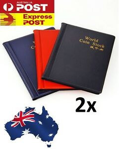 2 X OZ Holder 120 Coins Collection Album Storage Money Penny Book Collecting