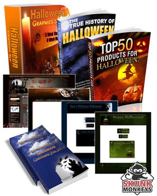 Halloween Super Pack W/ Master Resell Rights + 10 Bonus eBooks W/ MRR PLR