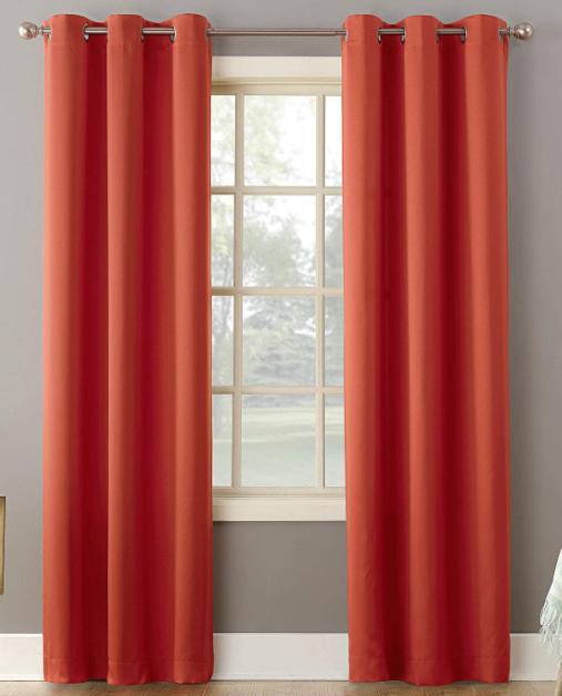 "Sun Zero Becca Energy Efficient Grommet Curtain Panel, 40"" x"