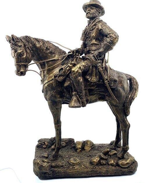 """Robert E. Lee Bronze Look Statue 15"""" H x 11"""" W"""