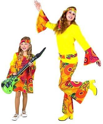 Kostüm Hippie 70er Flower Power sexy Kleid Karneval Damen Mottoparty - Flower Power Hippie Mädchen Kostüm