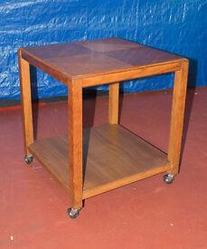 Vintage retro Mid century Modern Teak Side Table