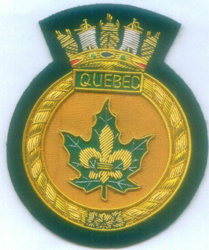 Canada HMCS Quebec Royal Navy C66 Crown Colony Cruiser Class War Ship Patch RN