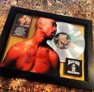 Tupac Shakur 2Pac Double Platinum Record Disc Album Music ...